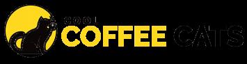 cool coffee cats logo